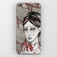 dragon ball iPhone & iPod Skins featuring Merrill: ball of twine  by Anca Chelaru