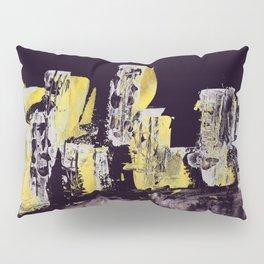 Yellow Purple Cityscape Pillow Sham