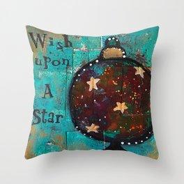 """""""Wish Upon A Star"""" Original Painting by Krista J. Brock Throw Pillow"""