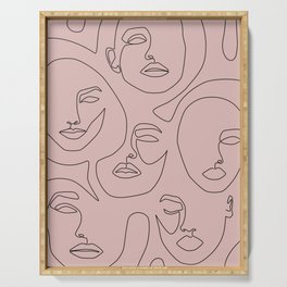 Blush Faces Serving Tray