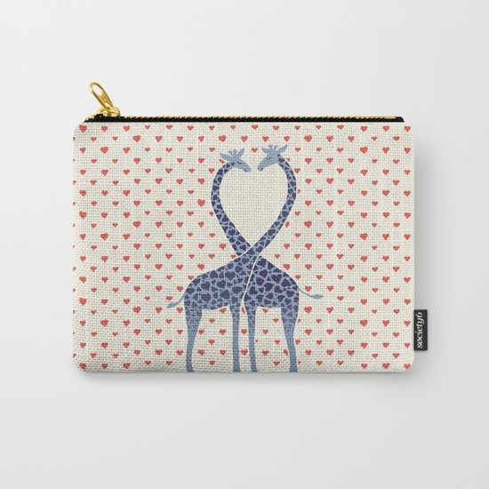 Giraffes in Love - a Valentine's Day illustration Carry-All Pouch