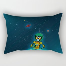 Giant Cats from Outer Space! Rectangular Pillow