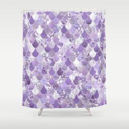 Mermaid Treasure, Purple Jewels Shower Curtain