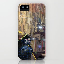 Uncle Death and the Tower of Barbs iPhone Case
