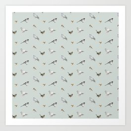 Garden birds Art Print
