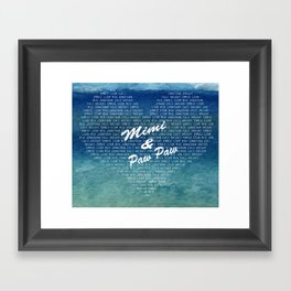 blanket for mimi and paw paw Framed Art Print