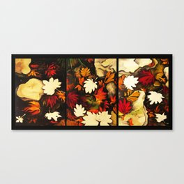Autumn in Water -tryptich Canvas Print
