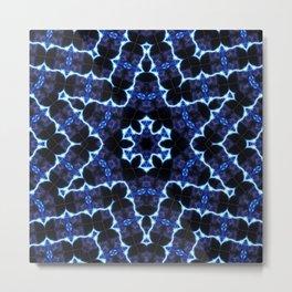 Etched Star Mandala Metal Print