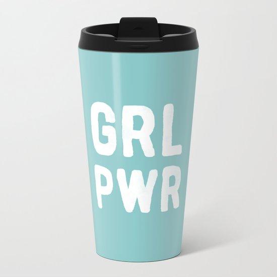 GRL PWR (Blue) Metal Travel Mug