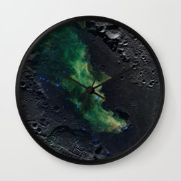 The Witch's Mirror The Dark Side Of The Moon (Mare Moscoviense & Witch Head Nebula) Wall Clock