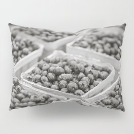 Blueberries in Black and White Pillow Sham