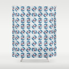 Geometric circle pattern 1 Shower Curtain