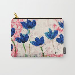 Wild flowers blue collage Carry-All Pouch