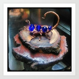 Copper Wire Scorpion Sculpture Art Print