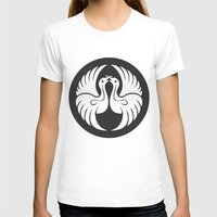 religious T-shirts featuring Black And White Birds-Religious Symbol by ArtOnWear