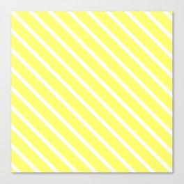 Custard Diagonal Stripes Canvas Print
