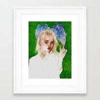 sky ferreira Framed Art Prints featuring SKY FERREIRA PLUS PLANTS by Jethro Lacson