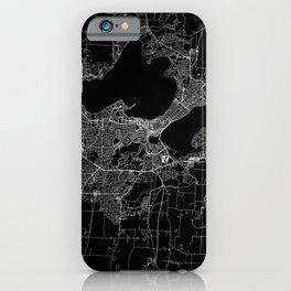Madison Black Map iPhone Case