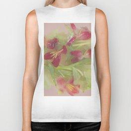 Pink tulips Biker Tank