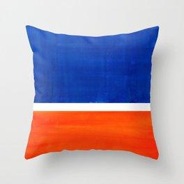 Colorful Bright Minimalist Rothko Orange And Blue Midcentury Modern Art Vintage Pop Art Throw Pillow