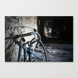 Discarded Push-Iron Canvas Print