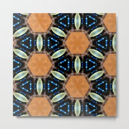 Hexagonal Metal Print