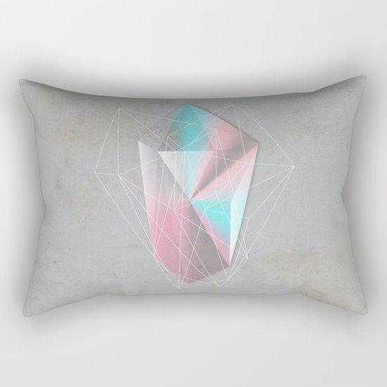Iridescent Geometry Gem Rectangular Pillow