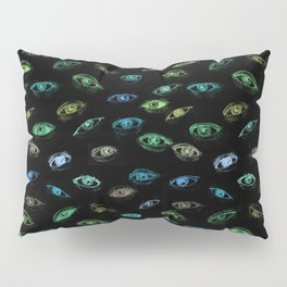 in the darkness with open eyes Pillow Sham