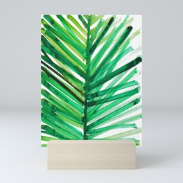 watercolor lines palm leaf 4 Mini Art Print