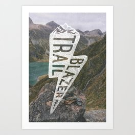 Trail Blazer Art Print