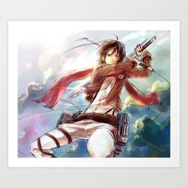 Snk-Mikasa Art Print