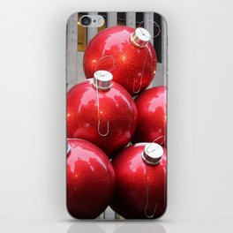 Huge Christmas Ball Ornaments in NYC iPhone Skin