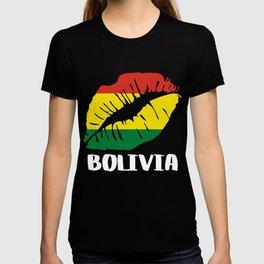 BOL Bolivia Kiss Lips Tee Shirt T-shirt