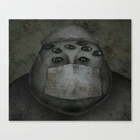 doctor Canvas Prints featuring doctor by Liu Yen-Chen