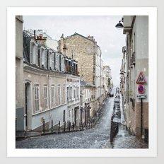 Montmartre, Paris. Art Print