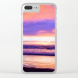 Sunset Moods at the Beach by Reay of Light Photography Clear iPhone Case