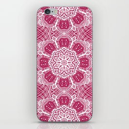 Project 503 | White Lace on Red iPhone Skin