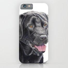 Labrador retriever - black P iPhone Case