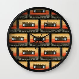 awesome transparent mix cassette tape vol 1 Wall Clock