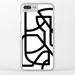 Bowing bull Clear iPhone Case