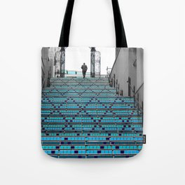 Mystery Man on the Blue Stairway to Heaven, Kansas City Tote Bag
