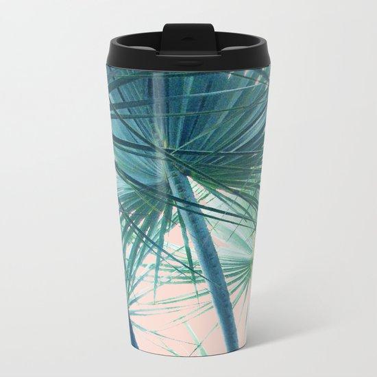 Tropical Palm #society6 #buyart #home #lifestyle Metal Travel Mug