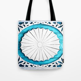 Ornate Wooden Wheel of Life Tote Bag