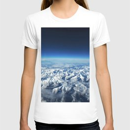 Pyrenees Mountains, Italy Ariel Photographic View T-shirt