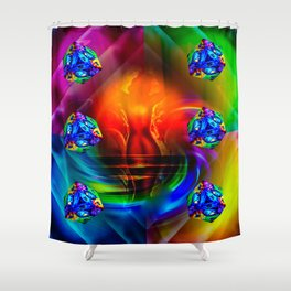 Dice - Game 20 Shower Curtain
