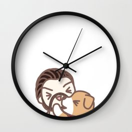 Chris & Dodger 4 Wall Clock