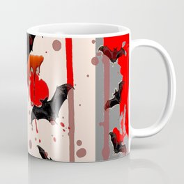 FLYING VAMPIRE BLACK BATS & HALLOWEEN BLOODY ART Coffee Mug