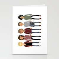 cargline Stationery Cards featuring Long Hair Simplistic  by cargline