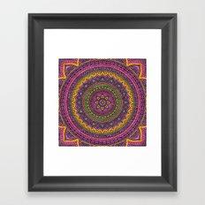 Hippie mandala 45 Framed Art Print