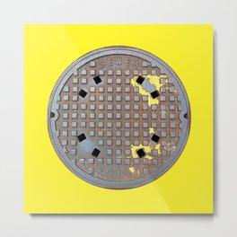 Montreal Sewer Manhole Metal Print